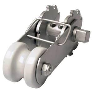 Trådstrammer m. låsebøjle – porcelæn isolator