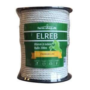 Hvid elreb/polyreb Ø 6mm (200m)