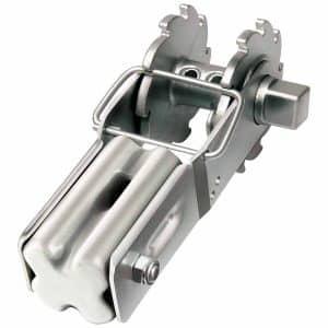 Trådstrammer m. låsebøjle – 'Bullnose' isolator
