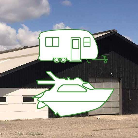Opbevaring campingvogn, båd, bil eller trailer